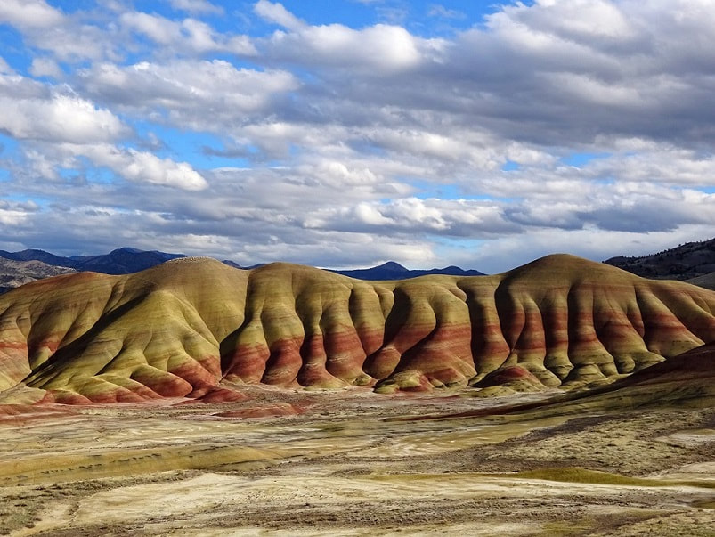 The stunning Painted Hills of Oregon in the John Day Fossil Beds; Mitchell, Oregon